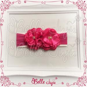 Encontre modelos de Faixa Infantil de Meia com 2 Flores e Strass Pink - Belle Juju