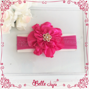 Bandolete/Fita de Flor Pink