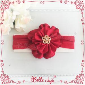 Bandolete/Fita Infantil de Flor Vermelha